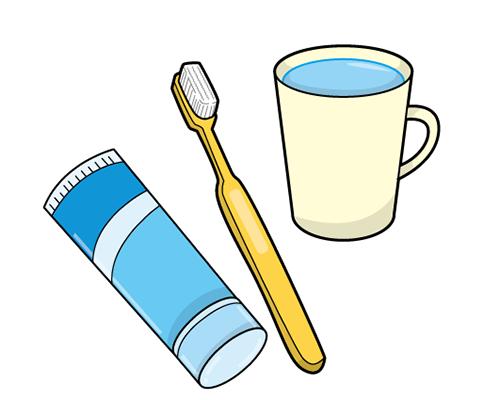 自閉症 絵カード 視覚支援 歯磨き、ブラシ、コップ
