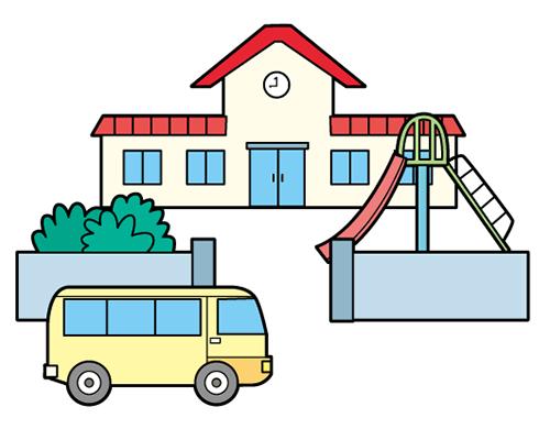 自閉症 絵カード 視覚支援 幼稚園と送迎バス