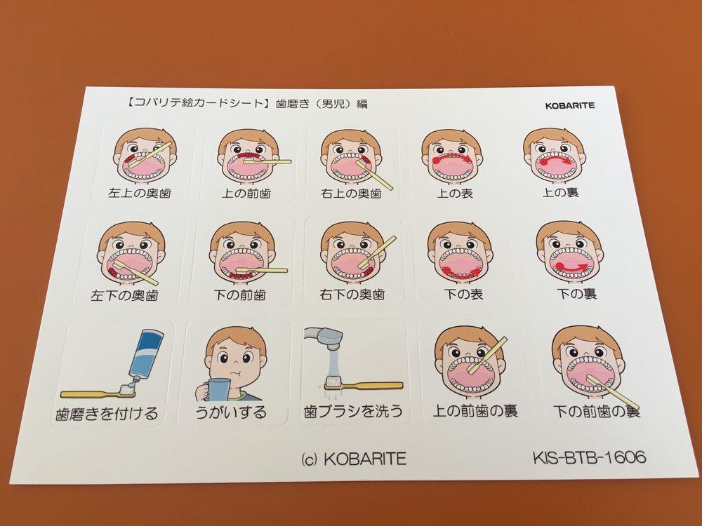 自閉症 歯磨き 絵カード