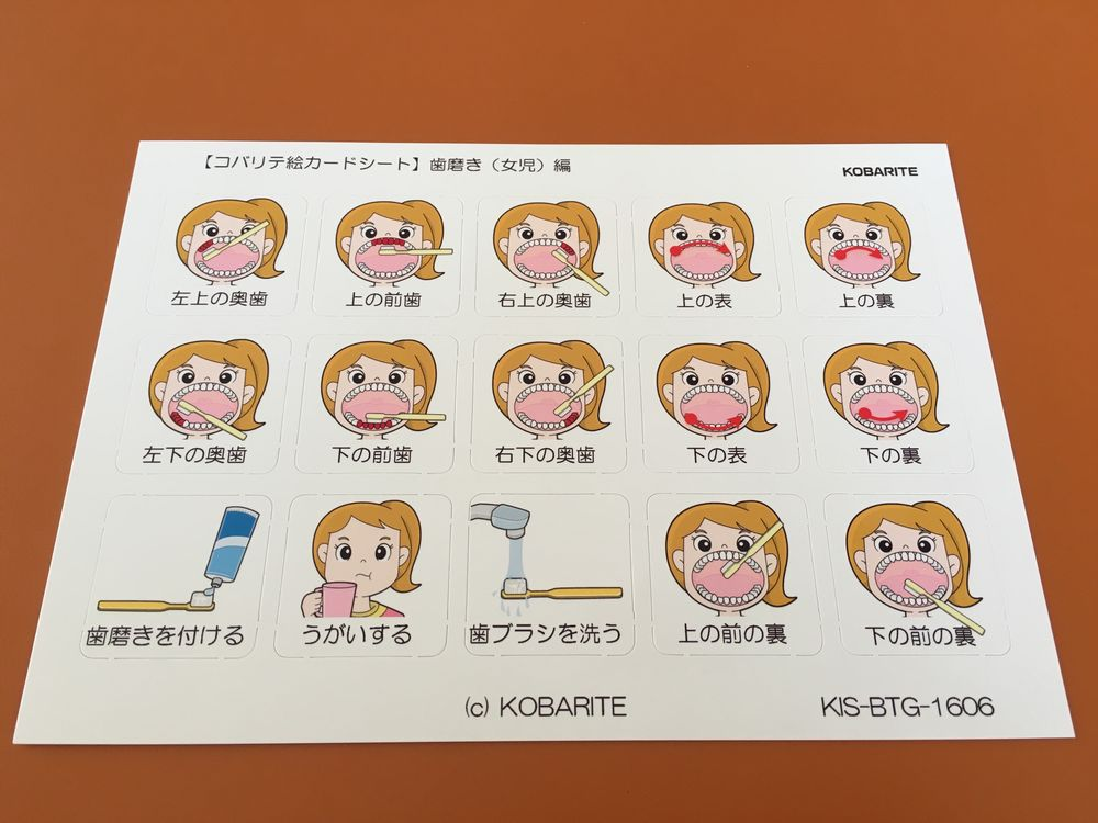 自閉症 絵カード 歯磨き