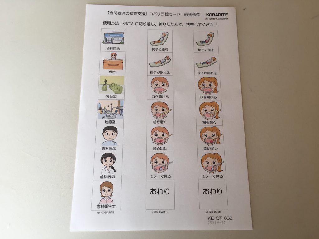 自閉症 視覚支援 絵カード 歯科通院 スケジュール