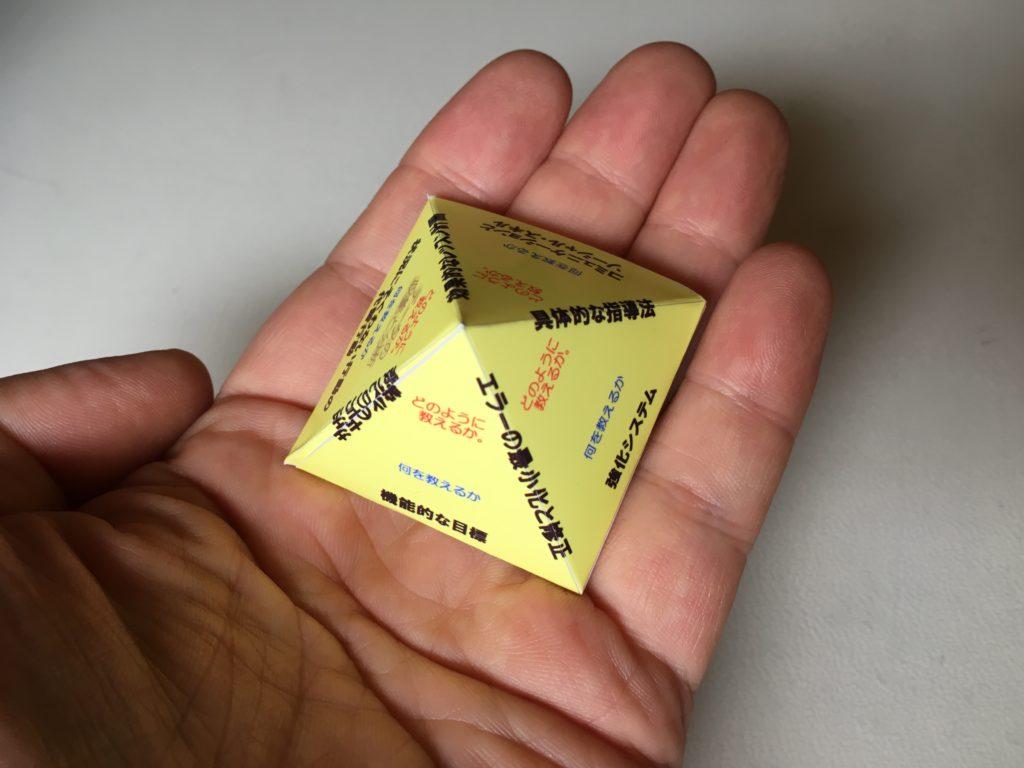 ピラミッド教育モデルの模型写真
