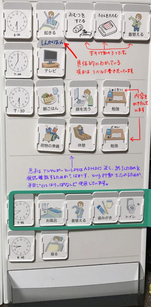 自閉症 スケジュール 絵カード コバリテ お客様の利用例