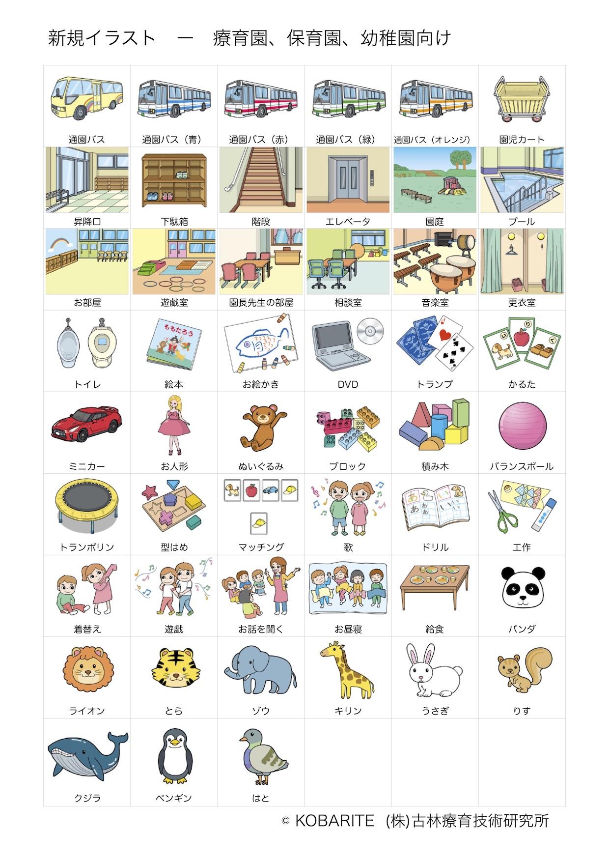 自閉症向け絵カードのイラストについてご意見募集中